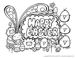 Coloring Page Happy Easter Coloring Pages Coloring Page And