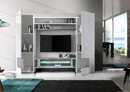 sorriso wall unit white gloss with grey