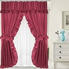 burgundy shower curtain sets. double swag shower curtain set burgundy sets