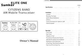 Sm 099 Am 40 Ch Cb Transceiver User Manual Manual Sunker