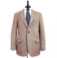 southwick sport coat harris tweed brown orange herringbone