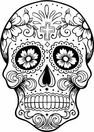Draw Sugar Skull Coloring Pages 52 In Download Coloring Pages With