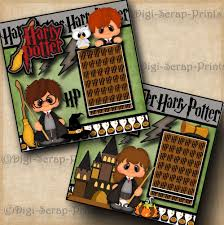 HARRY POTTER ~ 2 premade scrapbooking pages paper piecing layout ~ BY  DIGISCRAP | Harry potter scrapbook, Scrapbook creations, Scrapbook pages