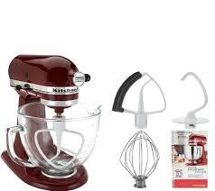 kitchenaid 4 5 qt mixer. kitchenaid 5qt. 300w tilt head stand mixer w/glass bowl \u0026 flex edge - page 1 \u2014 qvc.com kitchenaid 4 5 qt