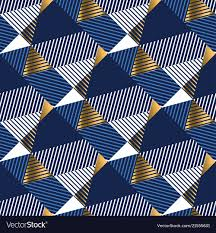 Blue And Gold Design Geometric Gold And Blue Luxury Seamless Pattern