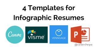 Infographic Resume Templates Extraordinary 48 Templates For Infographic Resumes Career Sherpa