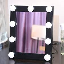 beauty vanity mirror square vanity mirror makeup mirror cosmetic folding portable pact pocket with led lights beauty vanity