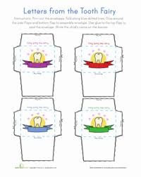tooth fairy letter paper projects