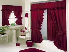 Innovation Luxury Shower Curtain Ideas Bold Red Bathroom Curtains Sets Httplanewstalkcom For Modern Design