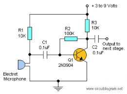 simple mic pre amp based lm358 schematic design simple audio pre amplifier