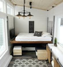 Trailer Bedroom The Elevating Bed Transforms The Space From A Cozy Living  Room To Spacious Sleeping . Trailer Bedroom ...