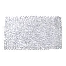 style selections 30 in x 17 in clear polyester bath mat