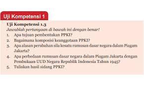Detail artikel terkait kunci jawaban lks sejarah indonesia kelas 12 kurikulum 2013. Jawaban Uji Kompetensi 1 3 Halaman 31 Ppkn Kelas 7 Perumusan Dan Penetapan Pancasila Belajar 84 Belajarlagi