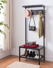 Mirror Coat Rack Espresso Entryway Mini Hall Tree With Mirror Coat Hooks And Storage 70