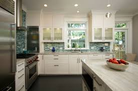 kitchen blue glass backsplash.  Blue Elite Kitchens Custom Lunada Bay Glass Backsplash Intended Kitchen Blue