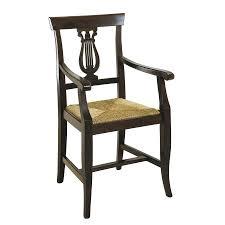 Sedia in legno capotavola con sedile in paglia mod.102 p arredasì