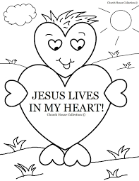 interesting heart color sheet sunday school coloring s lives in my