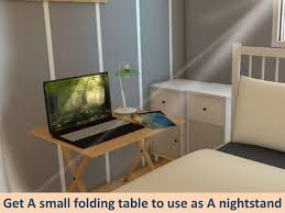 small bedroom furniture ideas. plain small get a small folding table to use as nightstand  to small bedroom furniture ideas