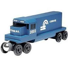 Buy Conrail Blue GP-38 Diesel Engine - Wooden Toy Train by Whittle ...