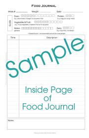 Sample Food Logs Food Journal