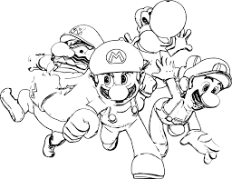 Coloriage Mario Bros Les Beaux Dessins De Dessin Anim
