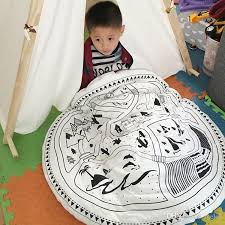 children soft round game mats 2016 kids cotton crawling blanket