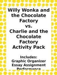 willy wonka vs charlie the chocolate factory movie comparison  willy wonka vs charlie the chocolate factory movie comparison activity pack