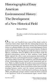 american environmental history the development of a new  pdf extract preview