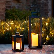 malvern outdoor battery candle lantern set