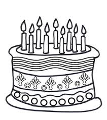 Small Picture Free Online Birthday Cake Colouring Page Kids Activity Sheets