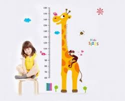 Kindergarten Height Chart Wall Stickers Home Decor For Living Room Bedroom