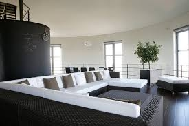 sleek living room furniture. A Sleek Contemporary Design Living Room With Only Two Major Tones Dark Brown And White Furniture T