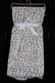 snow leopard print baby blanket free
