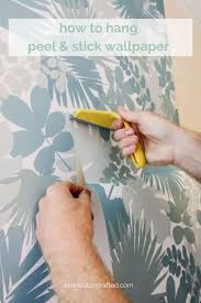how to hang l stick wallpaper