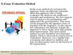 top performance appraisal methods  23 contd essay evaluation