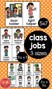 Classroom Jobs Classroom Jobs Preschool Jobs Life Skills