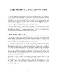 Pharmaceutical Representative Cover Letter 72 Images Sales