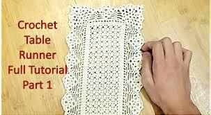 Crochet Table Runner Patterns Easy Simple Design Inspiration