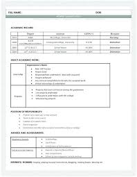 Best Resume Format For Freshers Resume Format Hr Fresher Resume