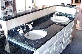 top mount sink on granite top mount sinks bathroom top mount sink on granite unbelievable blue