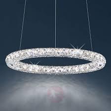 circle led hanging light w swarovski crystals 8578020 05