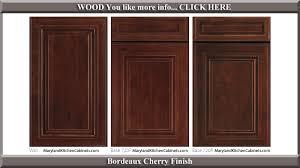 720 bordeaux cherry finish cabinet door style