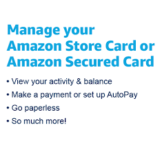 Once logged in, click on the down arrow which is below the welcome message as shown in the following screenshot. Manage Your Amazon Credit Card Account
