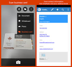 business card office office lens now includes office 365 support for ios and more