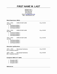 Free Fill In The Blanks Resume Collection Solutions Blank Cv Format