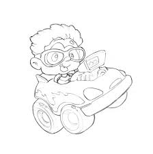 I included a paste up version with the car in place and given approval on the basics after a couple of tweaks i started work on the final art for print