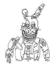 Strong Fnaf Sister Location Coloring Pages Five Nights At Freddy S