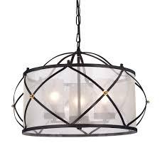 merga 3 light orb wrought iron drum white shade chandelier ceiling fixture