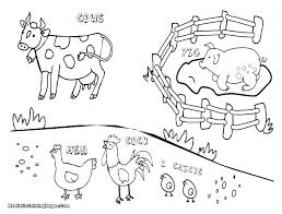 Farm Animal Coloring Book Free Printable Coloring Pages Of Animals