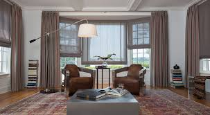 Window Treatment For Bay Windows In Living Room Ideas For Bay Window Treatments The Shade Store